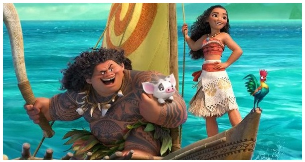 Above+is+a+picture+of+Moana+and+Maui+on+their+adventure.+Dwayne+%E2%80%9CThe+Rock%E2%80%9D+Johnson+does+the+voiceover+for+Maui+and+Moana+is+done+by+Auli%E2%80%99i+Cravvalho.+