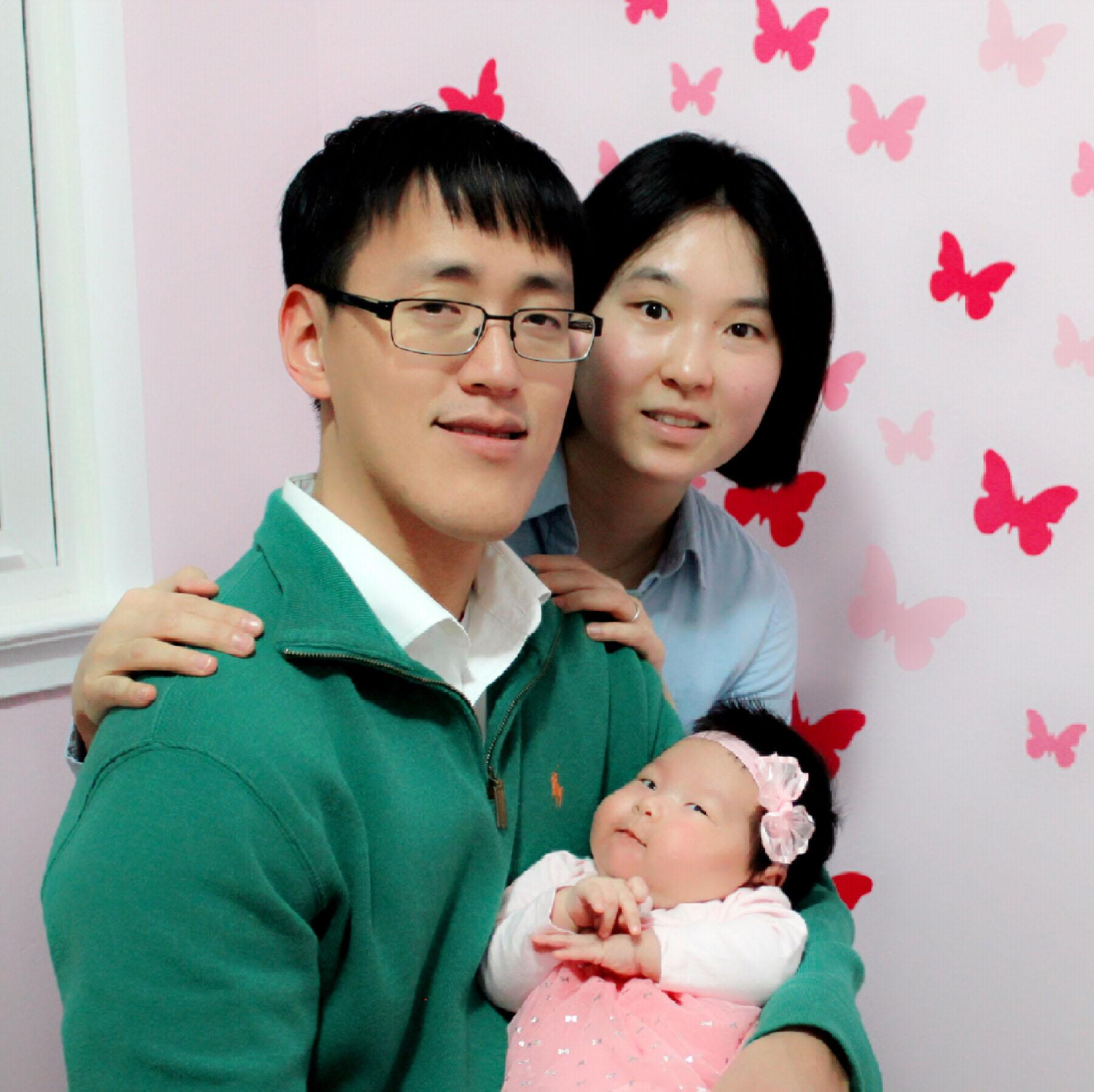 Math teacher Jae Lee and his wife welcome their baby daughter, Haven Lee, who was born last fall.