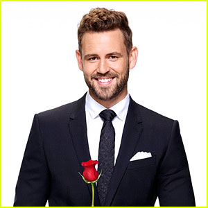 Viall holds a rose and a heart. The women compete to win the limited number of roses, to secure their spot on the show. Will true love prevail, or will Nick's time end in heartbreak, yet again? Only time will tell.