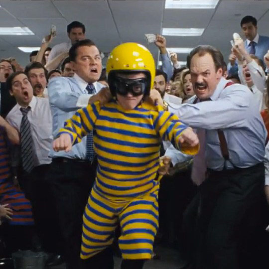 "Dwarf-Throwing has become a new sport. The above picture from ""The Wolf of Wall  Street,"" demonstrates the sport."