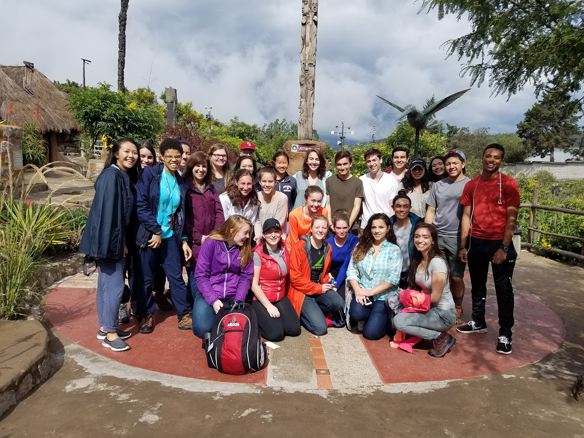 The+group+poses+for+a+photo+during+their+spring+break+service+learning+trip+to+Ecuador.+FCPS+led+the+trip%2C+which+had+14+WS+participants%2C+including+AP+Environmental+teacher+Patrick+Boyd+and+Spanish+teacher+Susan+Lampazzi.