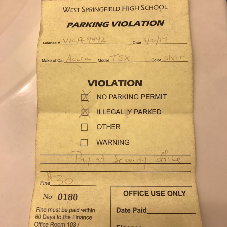 Expect a parking ticket in the event of illegal parking.  Parking without a permit also warrants a ticket.  Tickets can be $30 or more.