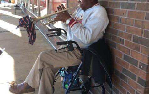 Springfield's trumpet man