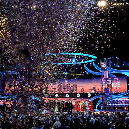 The People's Choice Awards is one of the many awards shows on TV.  It celebrates the works of members of the entertainment world that have gained popularity among the public.