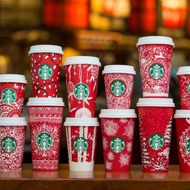 Starbucks+advertises+its+line+of+festive+holiday+cups+back+in+December.+Not+everyone+took+kindly+to+the+decorative+cups