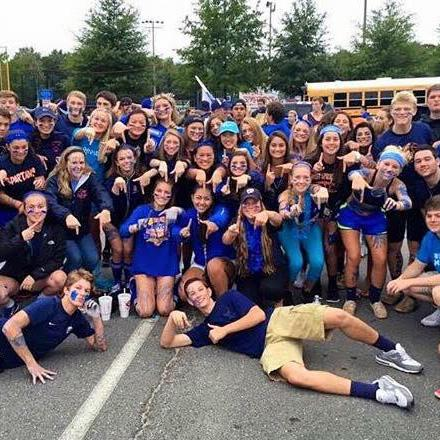 The class of '17 shows its spirit at a football tailgate toward the beginning of the season.