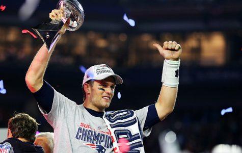 The New England Patriots win the LI Super Bowl title