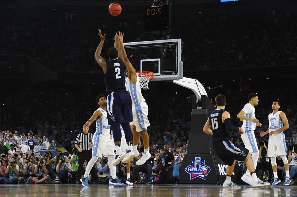Kris Jenkins nails the three pointer to secure the national championship for Villanova in the final seconds. March Madness is full of cinderella stories such as this one, and this year surely won't dissapoint.