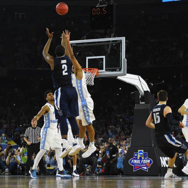 Kris+Jenkins+nails+the+three+pointer+to+secure+the+national+championship+for+Villanova+in+the+final+seconds.+March+Madness+is+full+of+cinderella+stories+such+as+this+one%2C+and+this+year+surely+won%E2%80%99t+dissapoint.