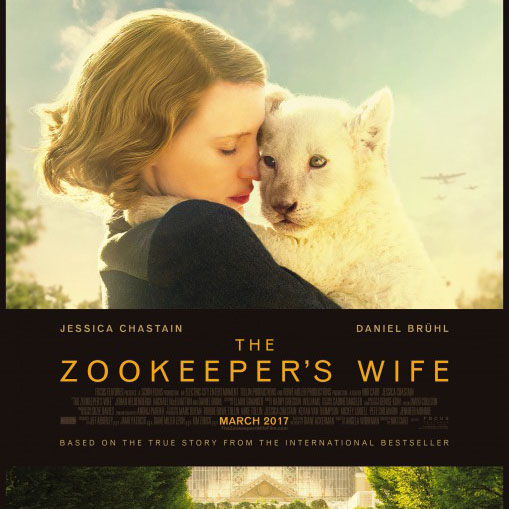 The zookeepers wife stars Jessica Chastain and Daniel Bruhl. Chastain plays as Antonina Zabinski