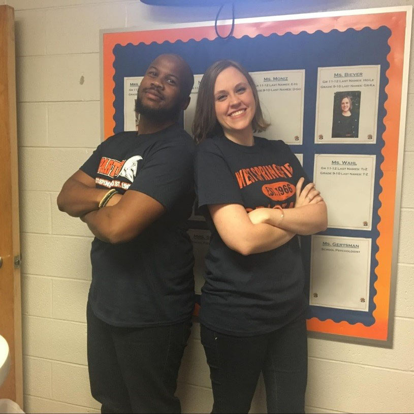 New Counselors Deonte Young and Jana Biever are pictured above.