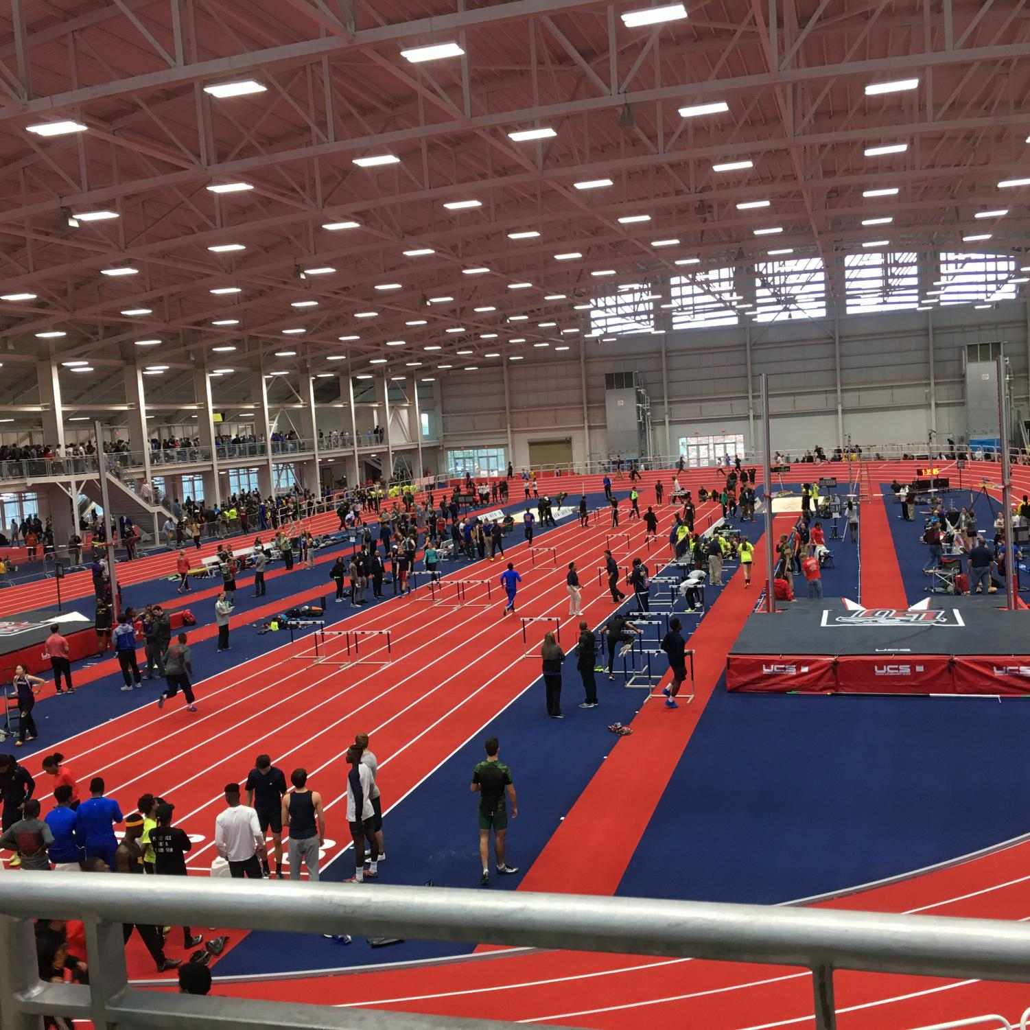 The Virginia Showcase takes place on the indoor track at Liberty University. This elite meet is held on Liberty's state of the art hydraulic banking track, which can have the incline  changed. WS sent 17 athletes last year. Notably, the Spartan girls won the 4x800 meter relay.