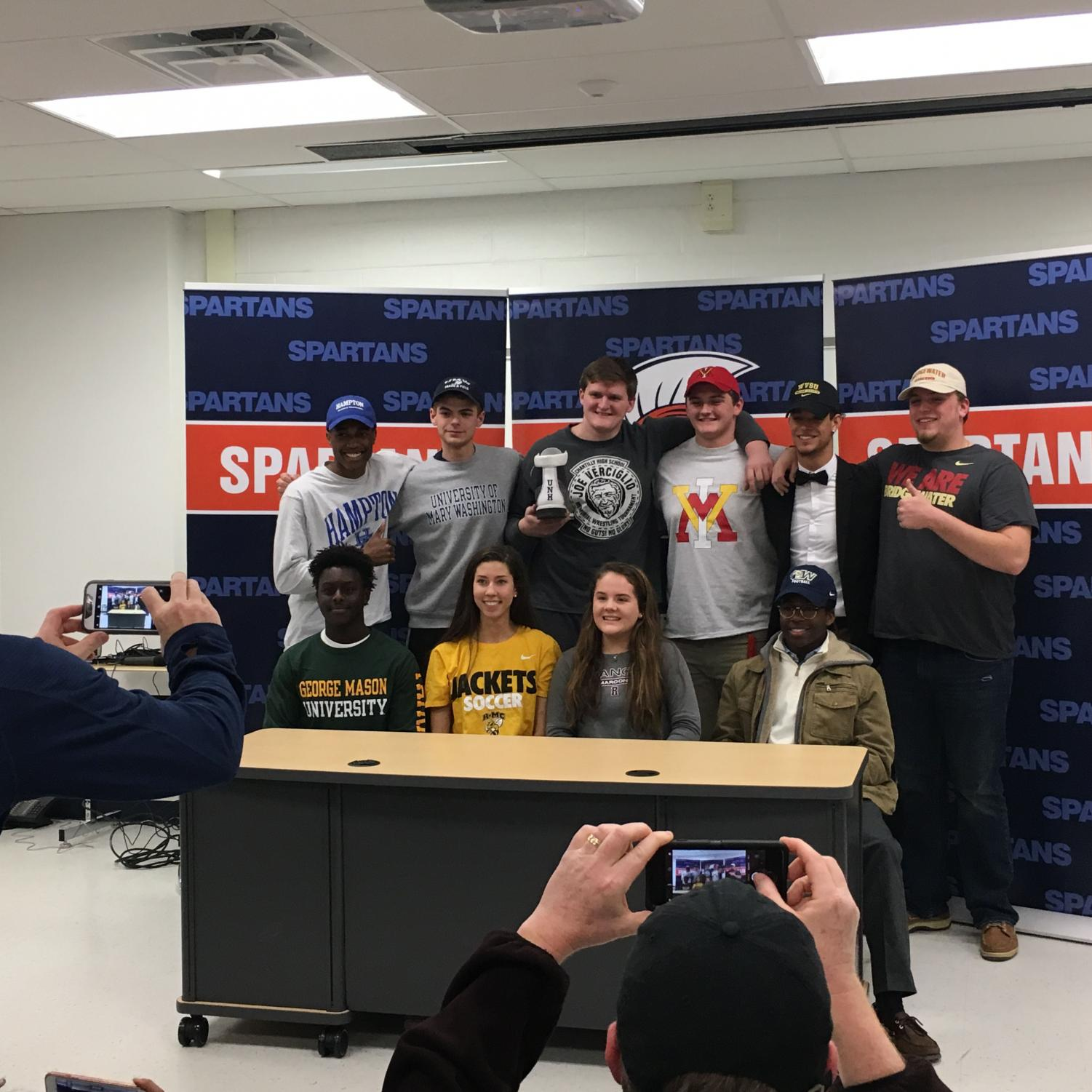 WS student athletes make their commitments to play for colleges on the day. Some other students committed in November.