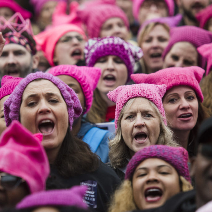 Woman+take+part+in+a+march+on+D.C.+following+the+election+of+President+Donald+Trump.+Protest+were+all+around+the+country+in+different+cities.+As+Woman%27s+Month+is+upon+us+the+principle+for+which+they+rallied+for+should+be+remembered%3A+equality.