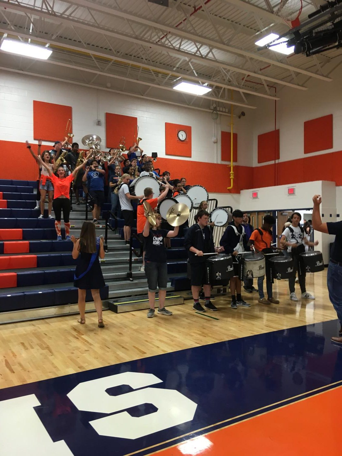 At the annual Homecoming Pep Rally, the band plays to energize the student body. They earned acclaim for spirit during football season.