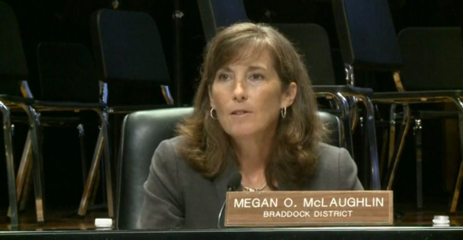 Braddock+District+Represntative+Megan+McLaughlin+speaks+at+the+FCPS+Board+meeting+about+sexual+misconduct+and+the+new+policy+being+implemented.