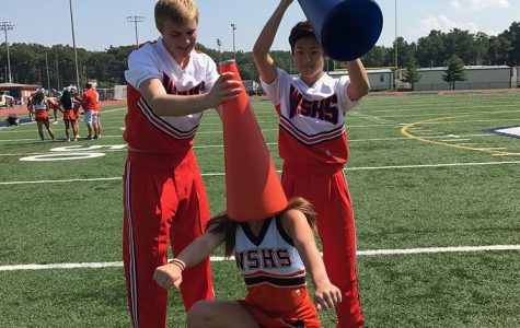Boys flipping into cheer