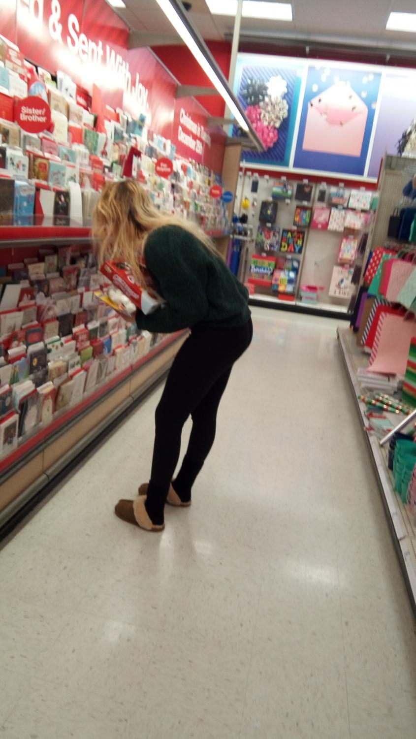 Junior Olivia Penna shops for the perfect holiday at her local target.