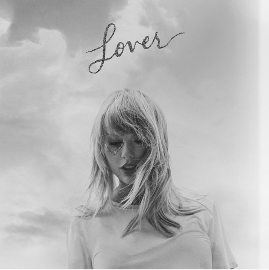 Taylor+Swift%E2%80%99s+new+album+cover+diplays+the+vibes+of+her+newly+released+music.+Though+not+seen+in+this+photo%2C+the+cover+is+full+of+pastel+colors%2C+and+the+title+Lover+is+pink+and+sparkly.