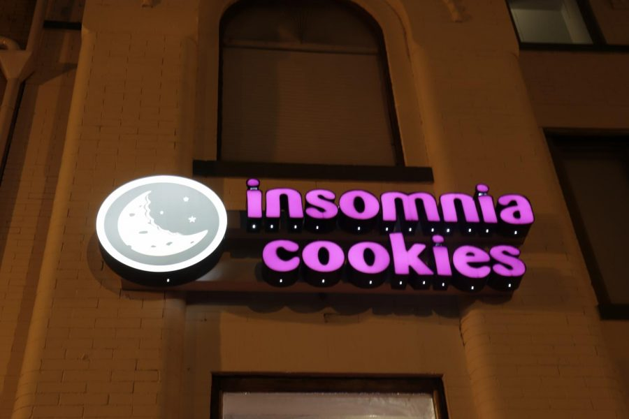 Insomnia+Cookies+has+locations+in+Washington+D.C.+and+Georgetown.+They+are+well+known+for+their+delicious+cookies+and+for+staying+open+until+3%3A00+am+in+the+morning.