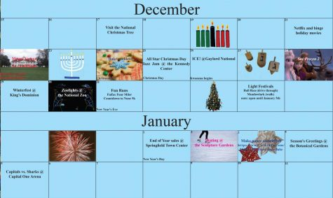 Holiday Break Activity Calendar