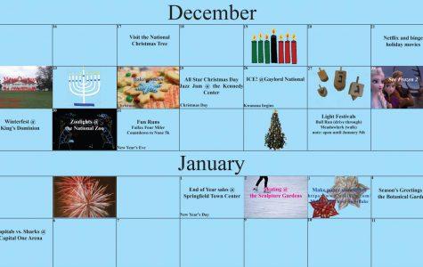 Holiday Break Activity Calendar