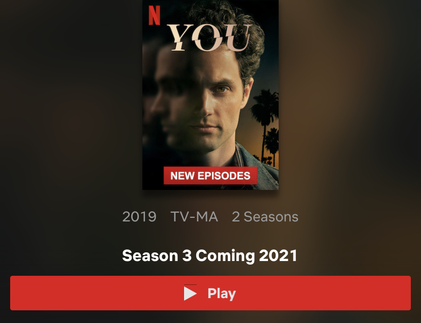 Screen shot of the new You season cover.  -Photo courtesy Amirah Sumrean
