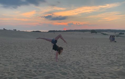 Sophomore Jessica Behan stays active in quarantine by dancing at the Outer Banks in North Carolina.