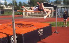 Senior Ashley Smith high jumping.