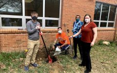 Besides hands-on gardening skills, teamwork is a fundamental lesson gauged from the renovation, as students work together to plant trees, dig holes, and otherwise beautify the courtyard.