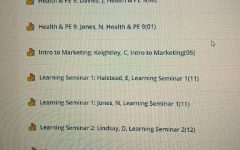 Koyyalamudy's Schoology showed that she was in both Jones's and Davies health and PE classes. The glitch in Schoology successfully worried Koyyalamudy as she realized she would have schedule conflicts she needed to resolve.